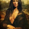 Megan fox a lo Mona Lisa