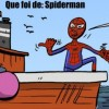Spiderman pescando