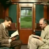 Mr. Bean en el tren!