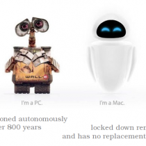 Wall-E vs Eva - Pc contra Mac