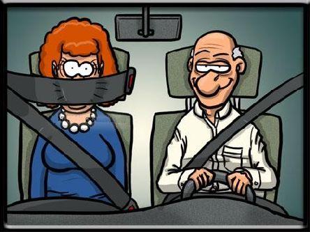 autofahren mit frau