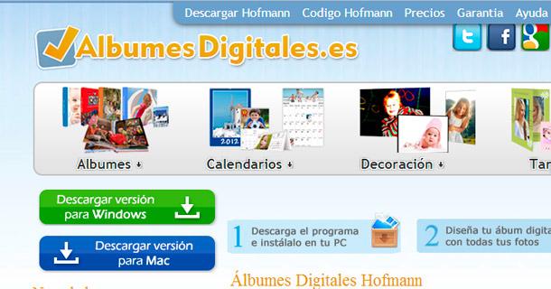 Nueva versión de albumes digitales Hofmann