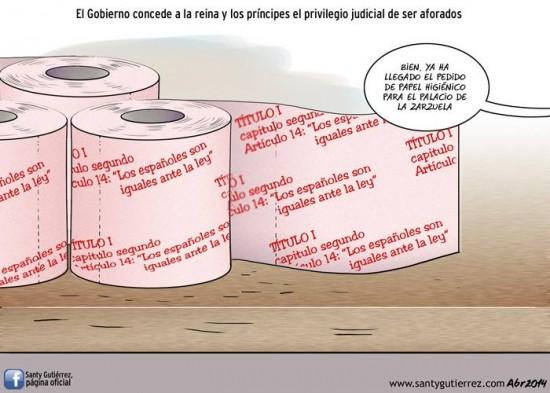 El papel higiénico de los Reyes de España