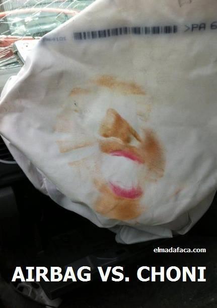 Airbag de una choni