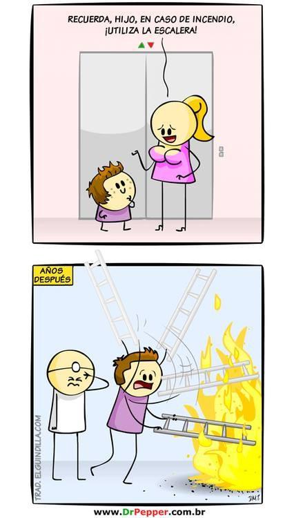 En caso de incendio