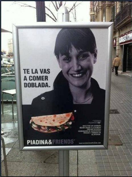 Buena publicidad: te la vas a comer doblada