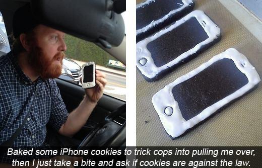 Galletas para vacilar a la policía