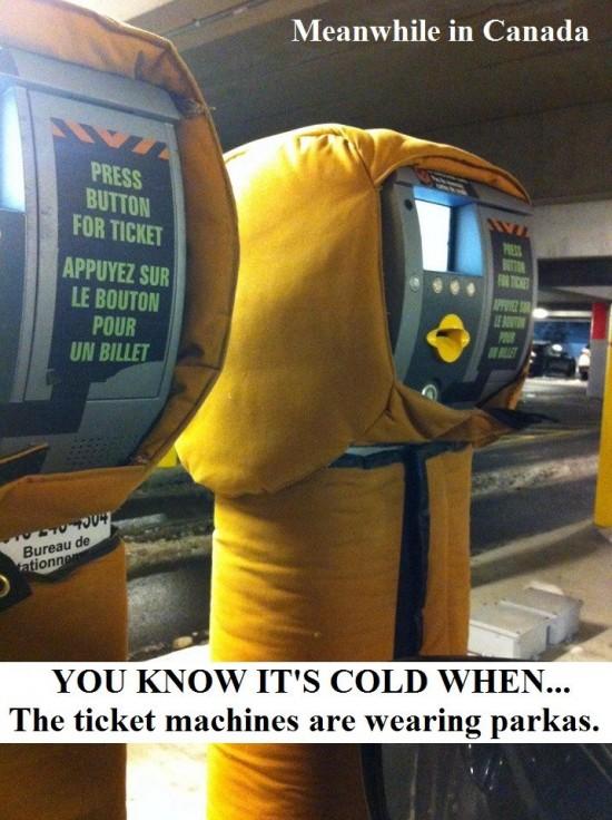 Hace frío cuando...