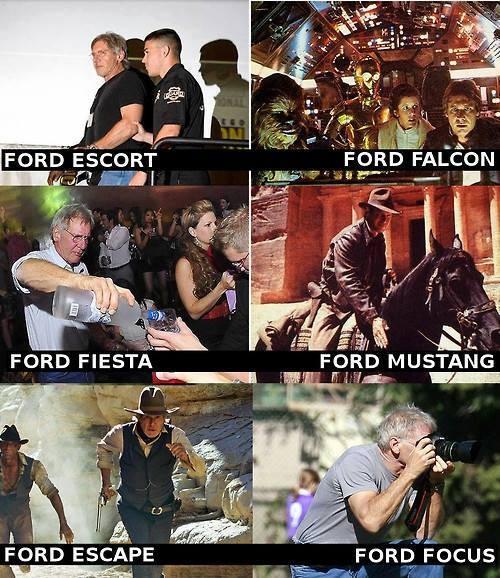 Distintas versiones de Harrison Ford