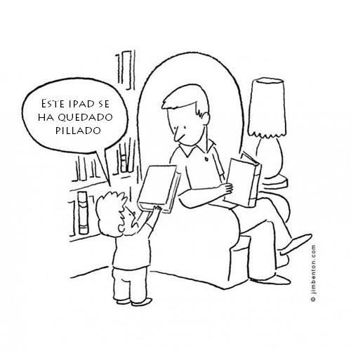 Papá, el iPad se ha quedado pillado