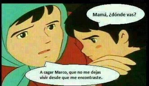 Marco no deja en paz a su madre