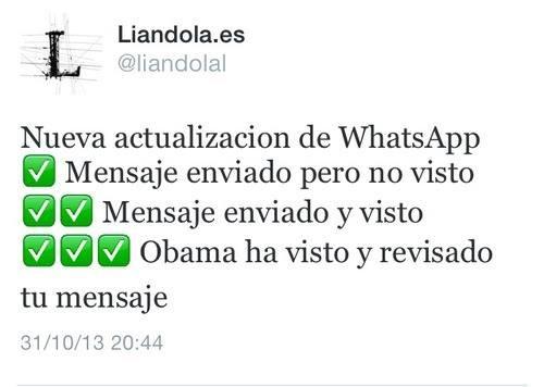 Confirmación de leído en Whatsapp