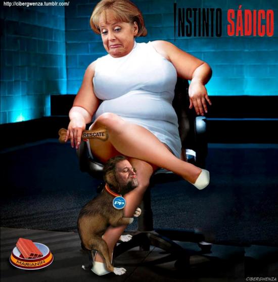 Merkel y Rajoy en Instinto Sádico