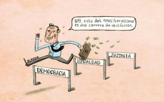 Neoliberalismo, carrera de obstáculos