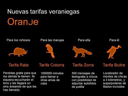 Nuevas tarifas de oranje