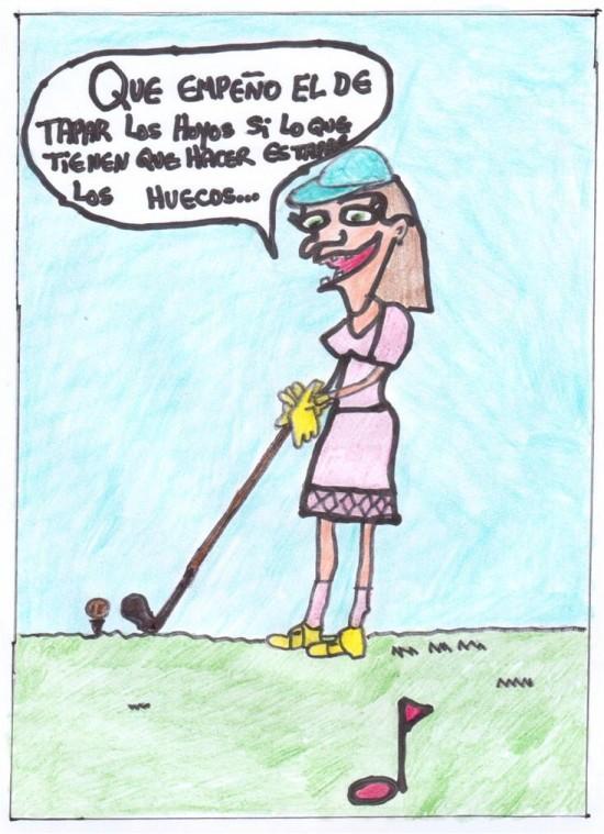 La jugadora de golf