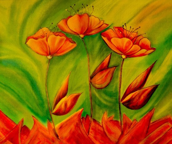 Bailan las tulipas