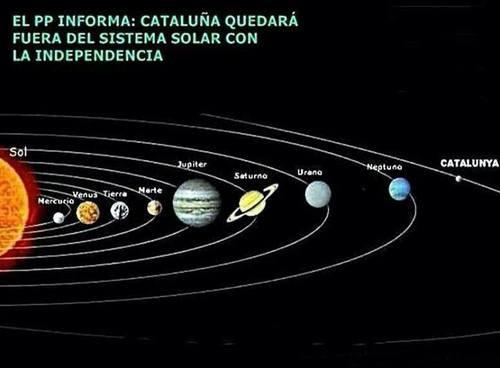 Cataluña quedará fuera del sistema solar con la independencia