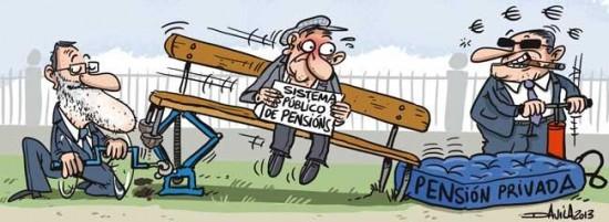 Rajoy subiendo las pensiones