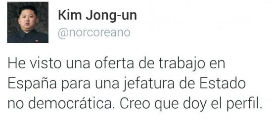 Kim Jong-Um, rey de España
