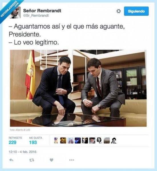 Aguantar: Pedro Sánchez y Albert Rivera