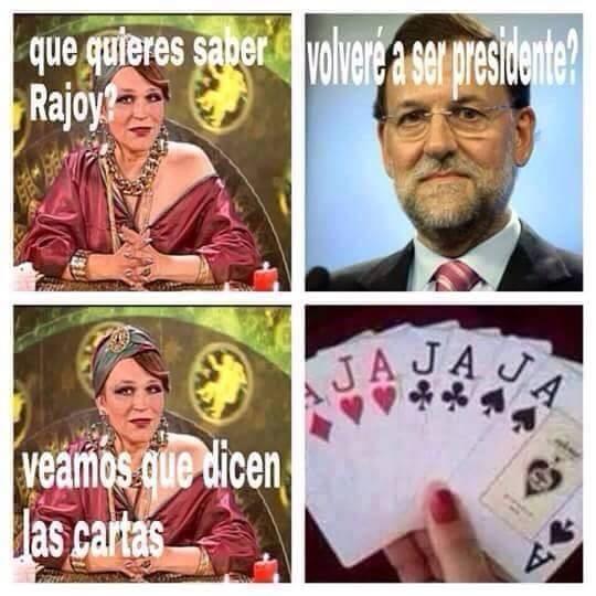 Echando las cartas a Rajoy