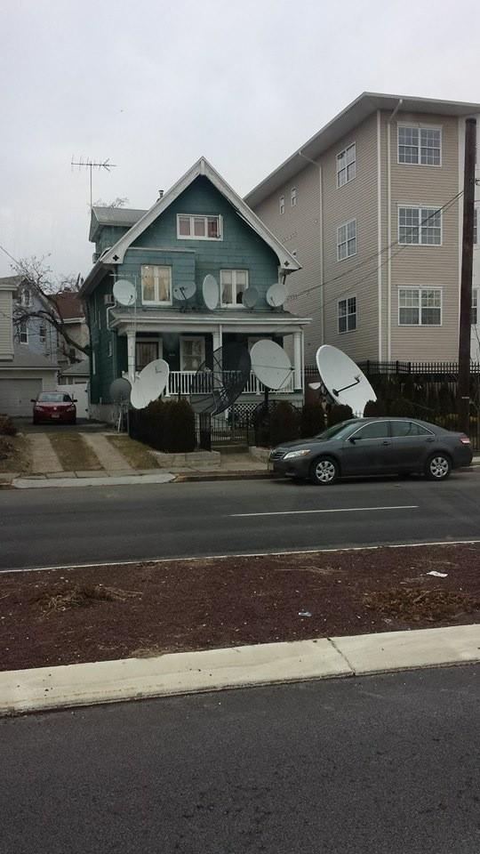 Casa con televisión por cable