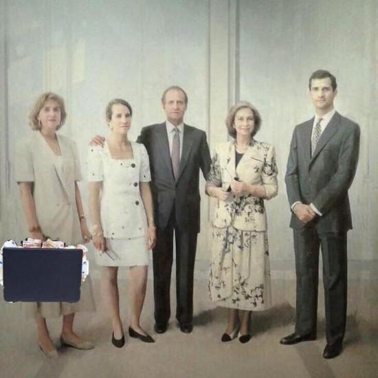 Versiones del cuadro de Antonio López de la familia real