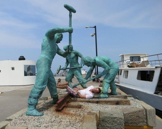 Escultura agresiva