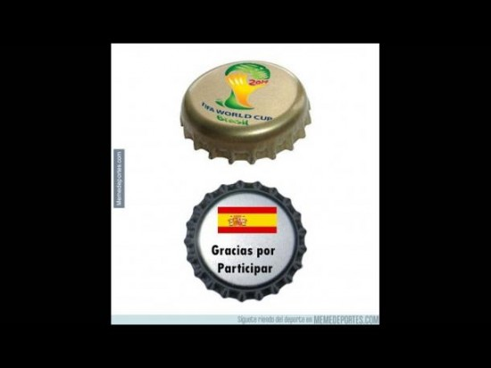España, fuera del Mundial de Brasil
