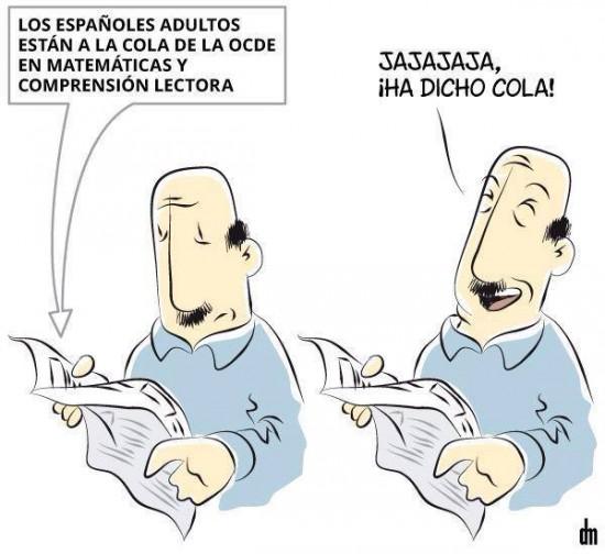 Comprensión lectora de los españoles