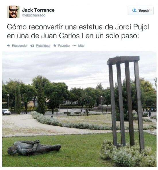 Jordi Pujol se convierte en Juan Carlos I