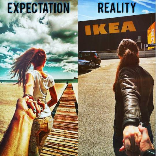 Expectativas versus realidad