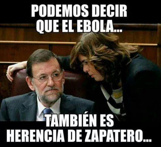 Ébola: culpa de Zapatero