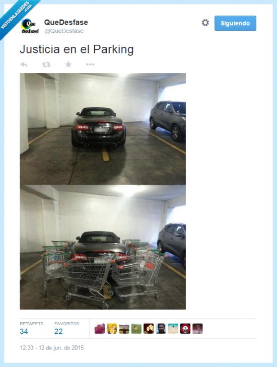 Justicia en el parking