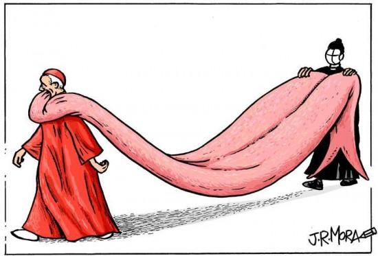 Cardenales con la lengua muy larga