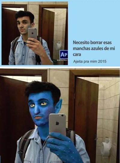 Manchas azules