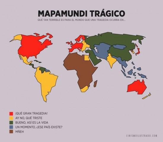 Mapa mundi del terror