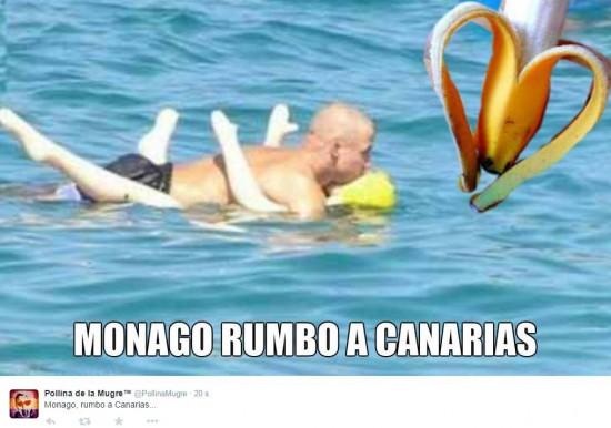 Monago viajando a Canarias