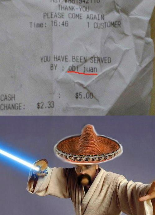 Obi Juan, el camarero