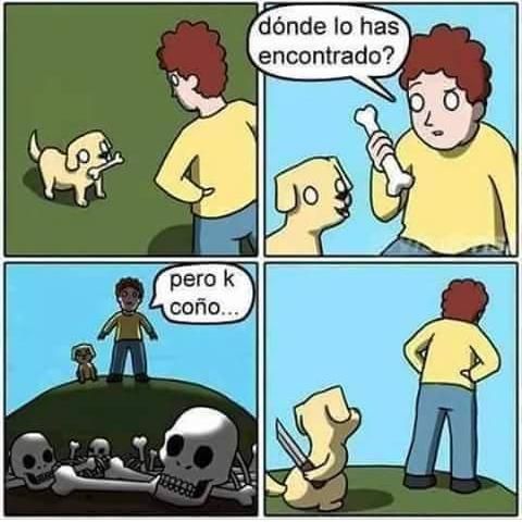 Perro buscahuesos