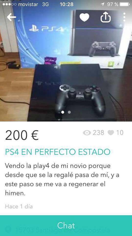 Novia vende Playstation