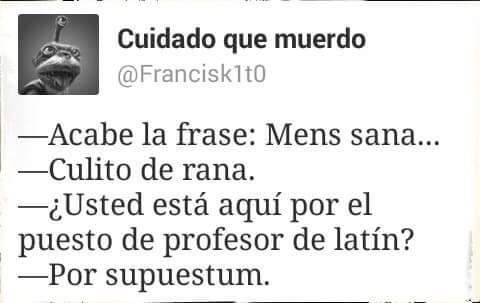 Profesor de latín