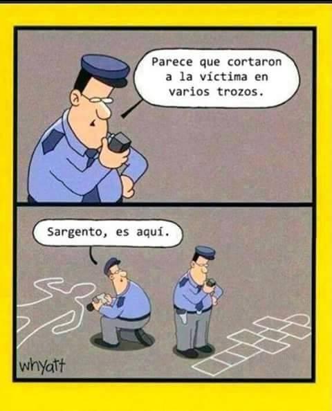 Sargento investigando