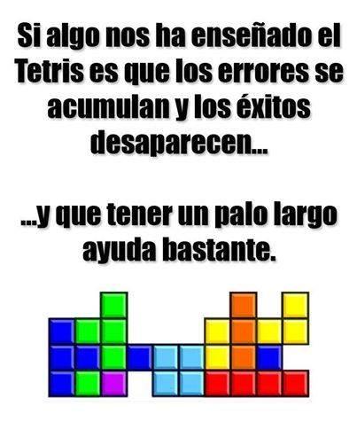 Enseñanzas del tetris
