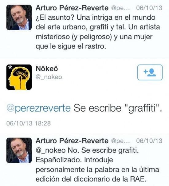 Arturo Pérez Reverte y su zas en toda la boca
