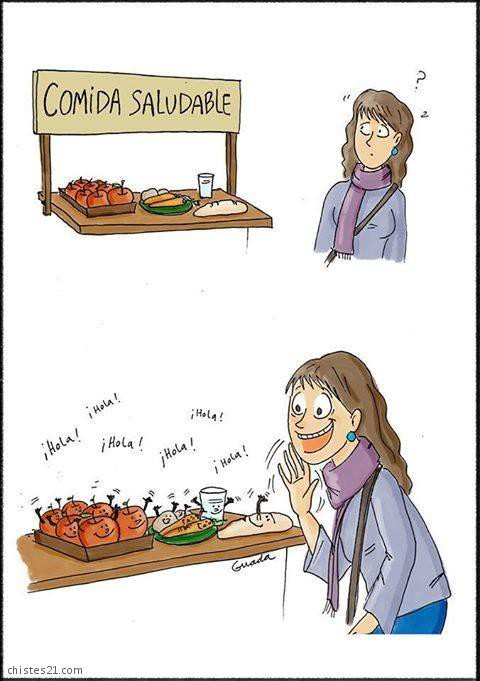 Me gusta la comida saludable