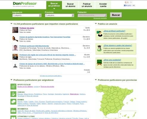 DonProfesor.com - Portal para ayudar a profesores y alumnos