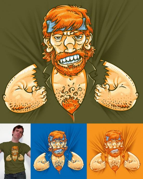 Chuck Norris te lleva a la espalda