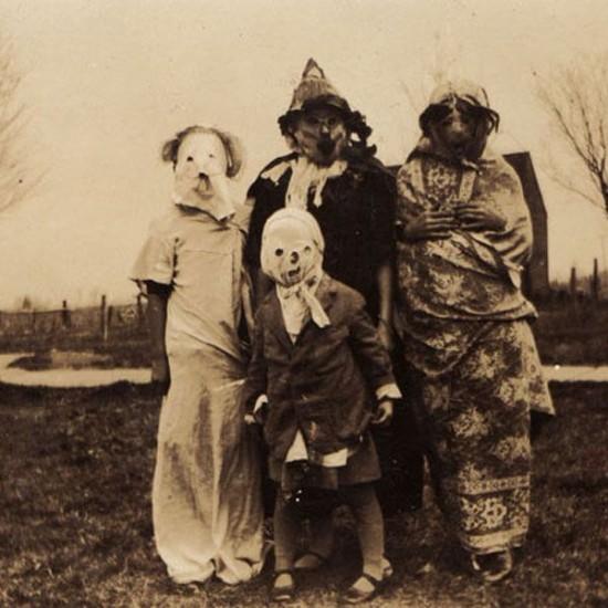 Antes los disfraces de halloween si que daban miedo